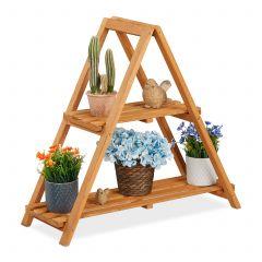 Portavasi a piramide in legno