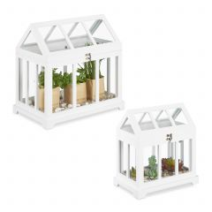 Set of 2 mini indoor greenhouses
