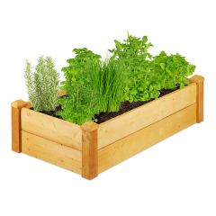 Wooden raised bed rectangular