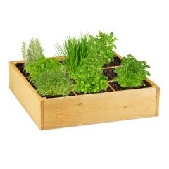 Wooden raised bed square