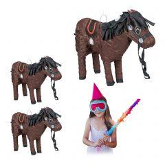 3 x Pinata Pferd