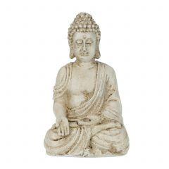 Boeddha beeld wit 17 cm