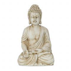 Boeddha beeld wit 30 cm