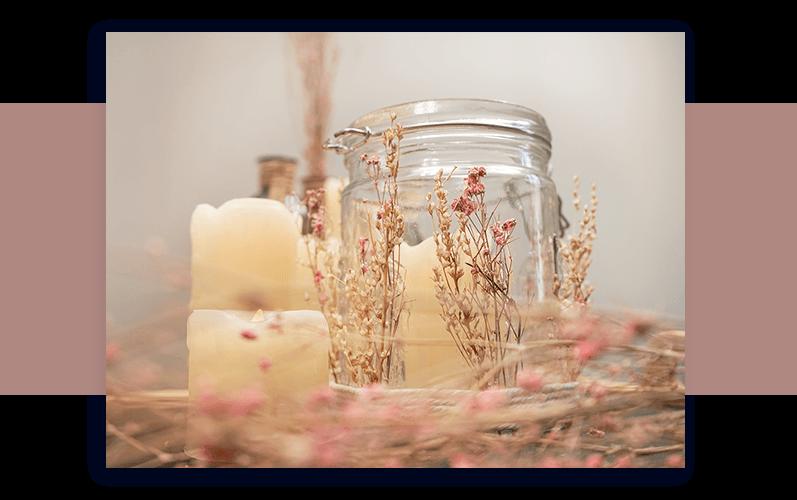 Blumendeko Glas